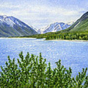 Morning Sun On Kenai Lake Poster by Sharon Freeman