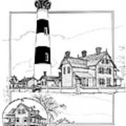 Morris Island Lighthouse Poster