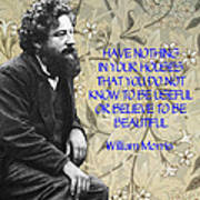 Morris Quotation About Art Poster
