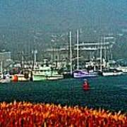 Morro Bay At A Distance Poster