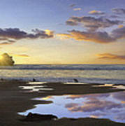 Morro Rock Reflection Poster