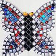 Mosaic Butterfly Poster by Lisa Brandel