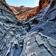Mosaic Canyon In Death Valley Poster