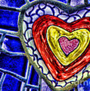 Mosaic Heart By Diana Sainz Poster