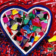 Mosaic Heart Poster