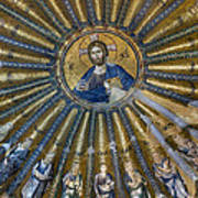 Mosaic Of Christ Pantocrator Poster by Ayhan Altun