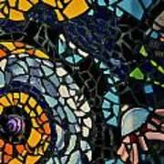 Mosaic Pattern On Wall Poster