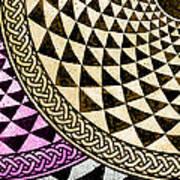 Mosaic Quarter Circle Bottom Left  Poster