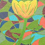 Mosaic Rose Poster