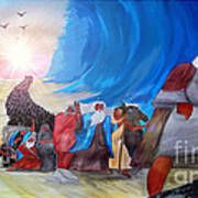 Moses Leading Through The Red Sea Poster