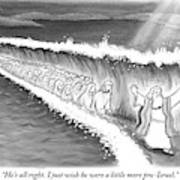 Moses Parting The Sea Poster