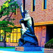 Moses Statue At The Main Library Poster