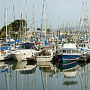 Moss Landing Boat Harbor Poster by Artist and Photographer Laura Wrede