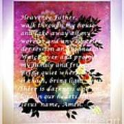 Most Powerful Prayer With Flowers In A Vase Poster