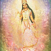 Mother Goddess In Rainbow Colours Poster