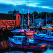 Motif No 1 Rockport Massachusetts Poster by Thomas Schoeller