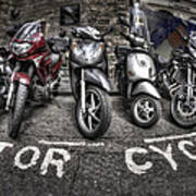Motor Cycles Poster