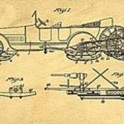 Motor Driven Sleigh Support Patent Drawing From 1915 1 Poster