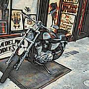 Motorcycle At Philadelphia Eddies Poster
