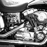 Motorcycle Close-up Bw 3 Poster