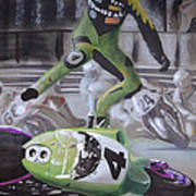 Kawasaki Motorcycle Crash Poster