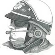 Motorcycle Officer On The Job Poster