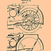 Motorcycle Patent 1925 Poster