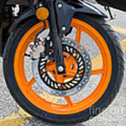 Motorcycle Wheel Poster