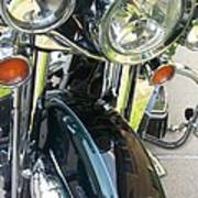Motorcyle Classic Headlight Poster