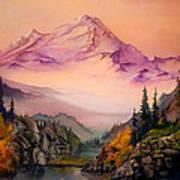 Mount Baker Morning Poster