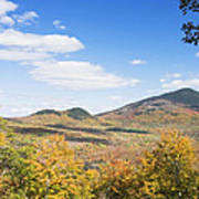 Mount Blue State Park In Fall Weld Maine Poster