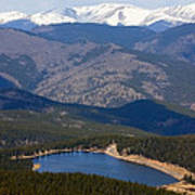 Mount Evans And Echo Lake Poster