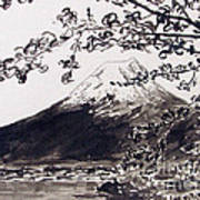 Mount Fuji Spring Blossoms Poster