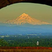 Mount Hood Framed Poster by DerekTXFactor Creative
