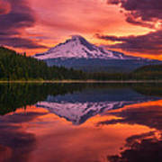 Mount Hood Sunrise Poster