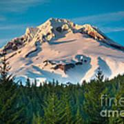 Mount Hood Winter Poster