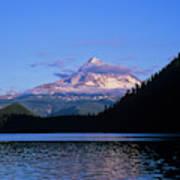 Mount Hoods Looms Over Lost Lake  Hood Poster