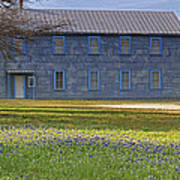 Mount Horeb Masonic Lodge 137 With Bluebonnets Poster