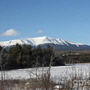 Mount Katahdin Winter 3 Poster