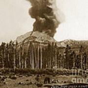 Mount Lassen Volcano California 1914 Poster