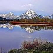 Mount Moran And Jackson Lake Poster