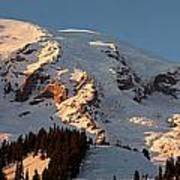 Mount Rainier Alpenglow Poster