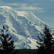 Mount Rainier From Patterson Road Poster