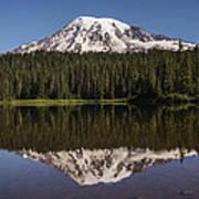 Mount Rainier Reflection Lake Poster