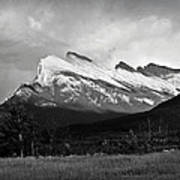 Mount Rundle At Banff National Park Poster