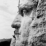 Mount Rushmore Construction Photo Poster