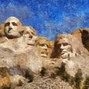 Mount Rushmore Monument Photo Art Poster