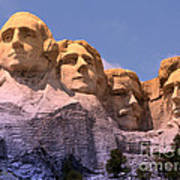 Mount Rushmore Poster by Olivier Le Queinec