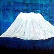 Mount Shasta Original Painting Poster