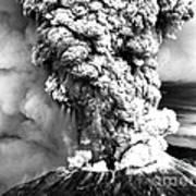 Mount St Helens Eruption Poster